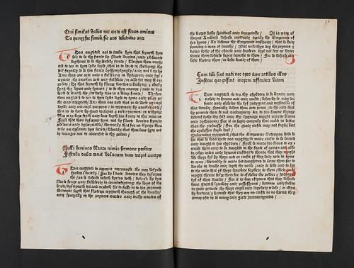 Rubricated initials in Cato, Dionysius: Disticha de moribus