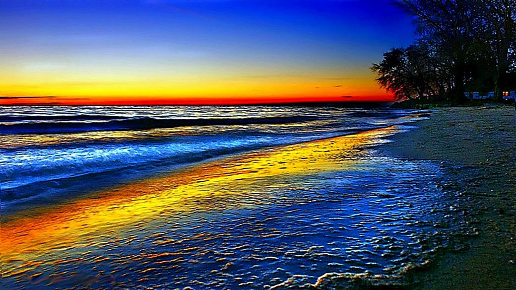 Download Beach Sea Wallpaper Gallery: Colorful Beach Sunsets Wallpaper Download Free