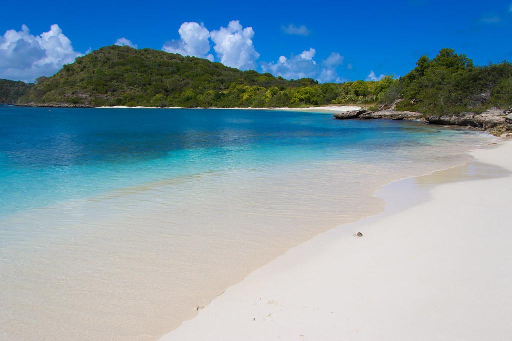 Antigua Island Map Ga Ly Bay
