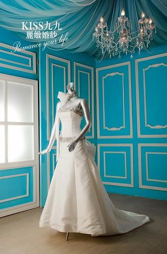 拍照婚紗和宴客禮服怎麼選?讓高雄kiss99婚紗告訴你:拍攝用禮服 (19)