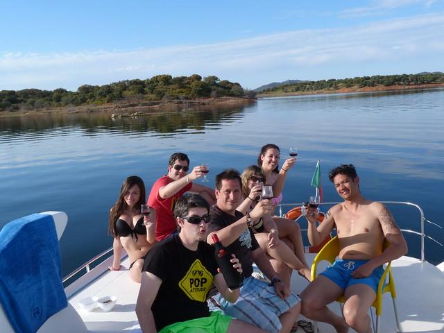 Con los amigos en el Lago Alqueva (Portugal)