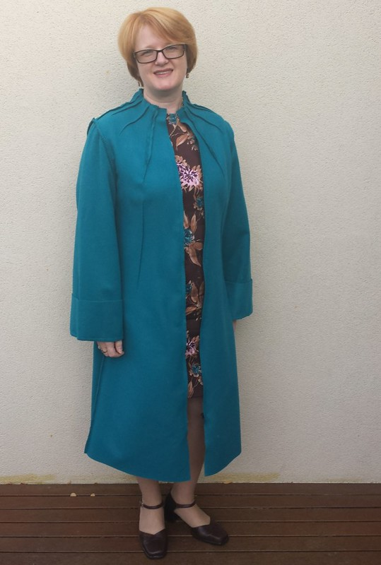 Lekala 5749 coat in wool from Super Cheap Fabrics