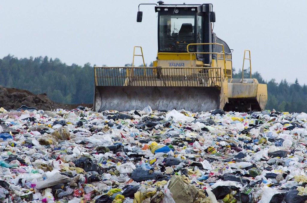 垃圾掩埋場。圖片來源:Prylarer。CC0 Public Domain