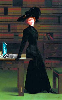 Blogging in the Library, after Harry Willson Watrous | by Mike Licht, NotionsCapital.com