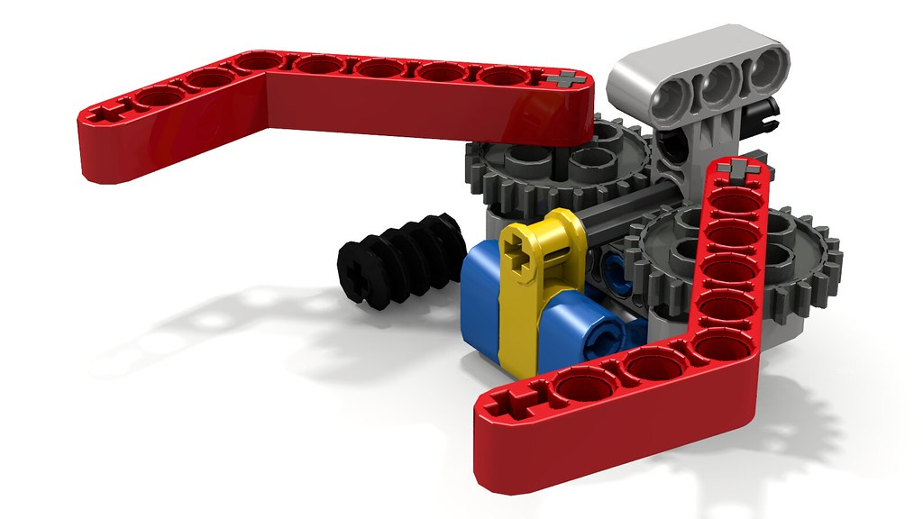 Simple lego grabber claw gripper this simple lego for Ev3 medium motor arm
