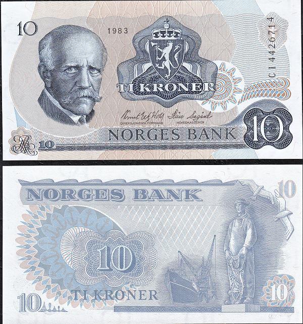 10 Korún Nórsko 1983, Pick 36c