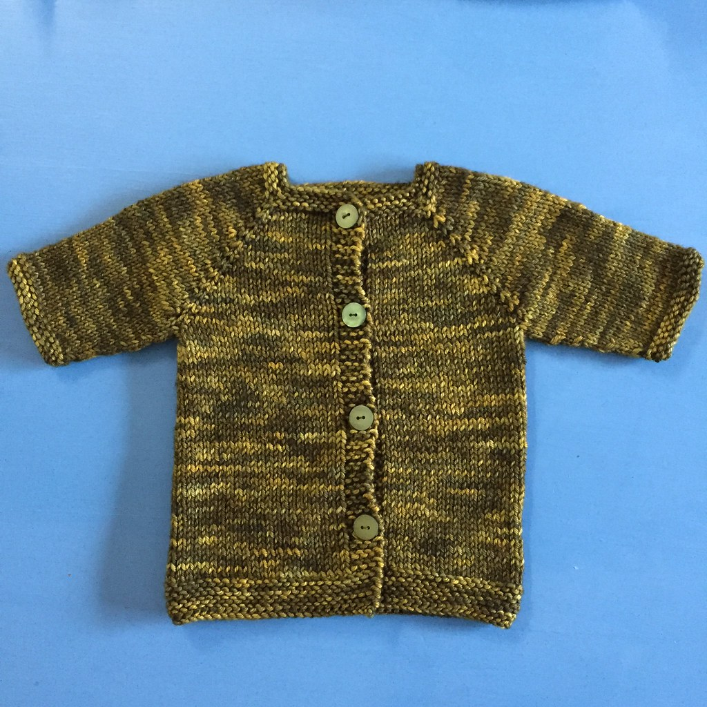 hundreds cardigan knit in miss click clack 'patience young grasshopper'