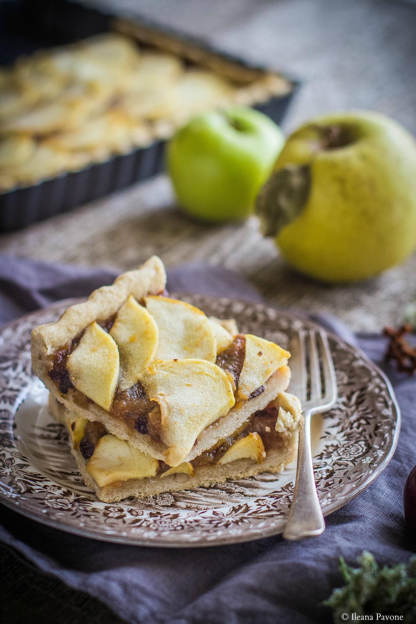Crostata di mele senza zucchero