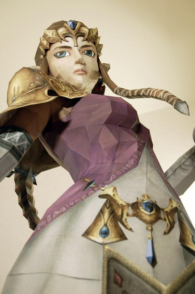 Life-size paper craft Zelda