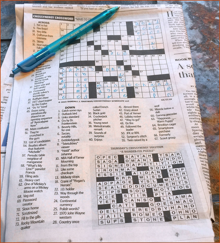 Hundreds Chart Puzzles: Beth7s Unfinished Crossword Puzzle -- The Washington Post u2026 | Flickr,Chart
