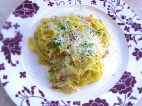 fennel and gorgonzola fettuccine