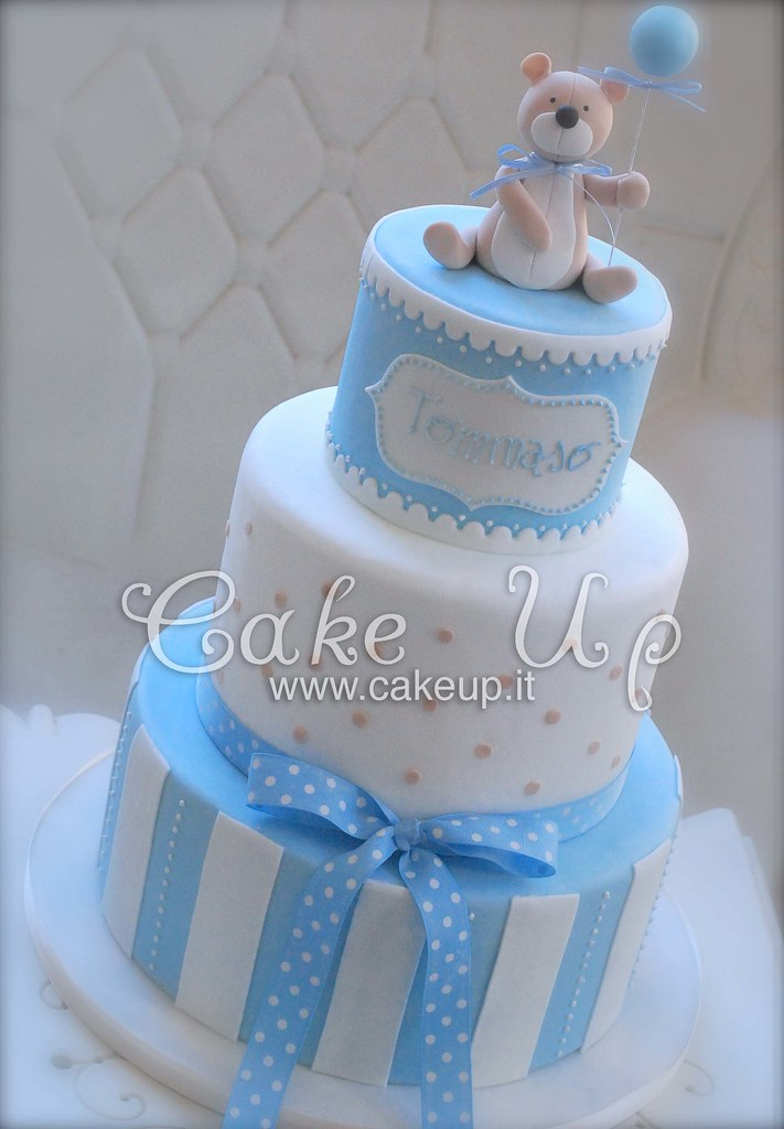 Torta battesimo bimbo 3 piani orsetto cake up flickr - Decorazioni battesimo bimbo ...