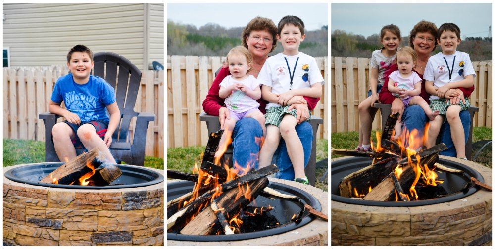 firepit with grandma