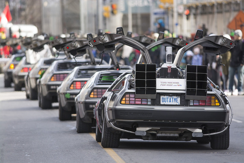 Parade of the DeLoreans by BruceK