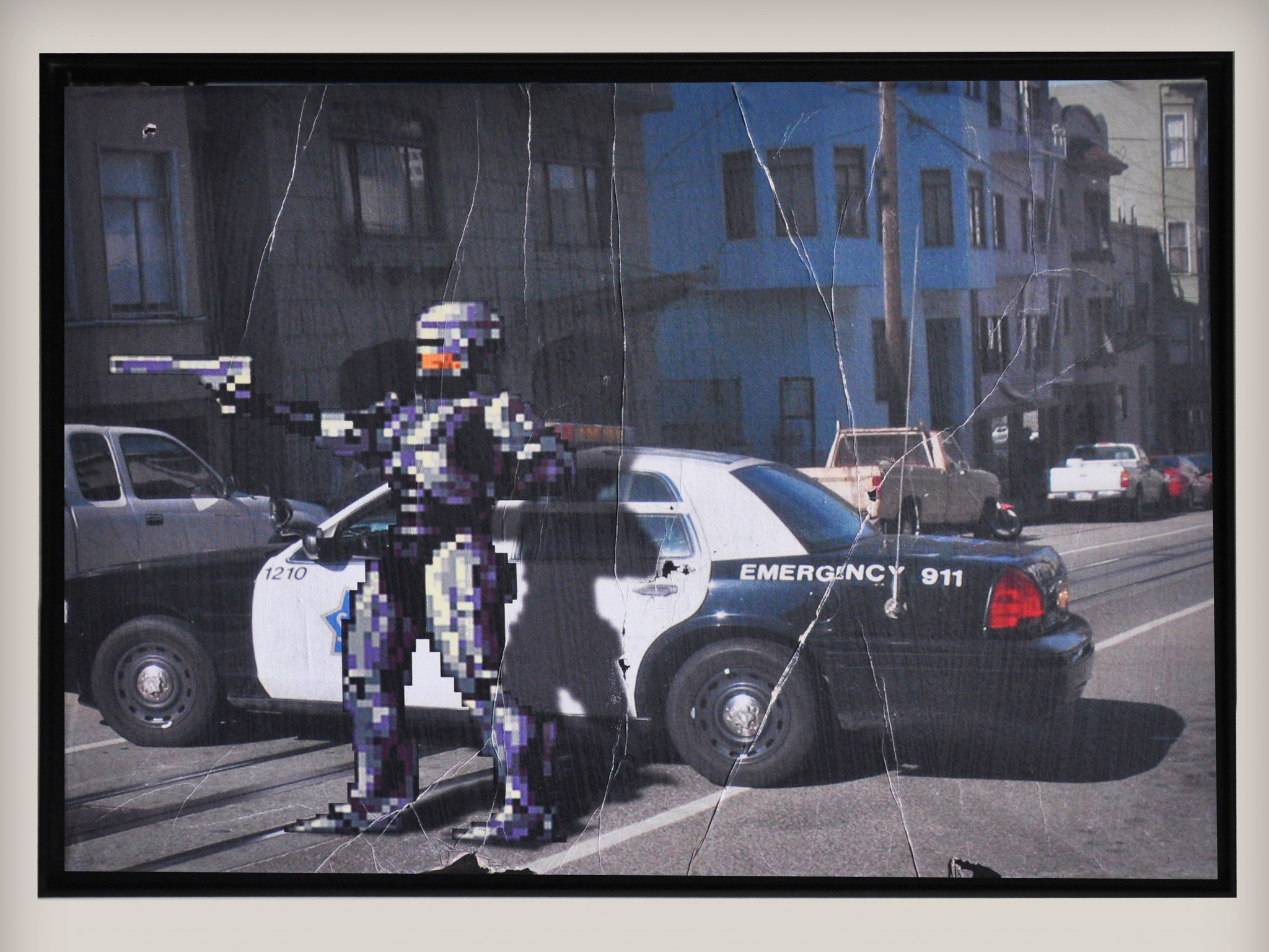 Street art by COMBO Culture Kidnapping - Robocop