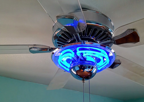 Neon Ceiling Fan Chrome Amp Clear Plastic Ceiling Fan With