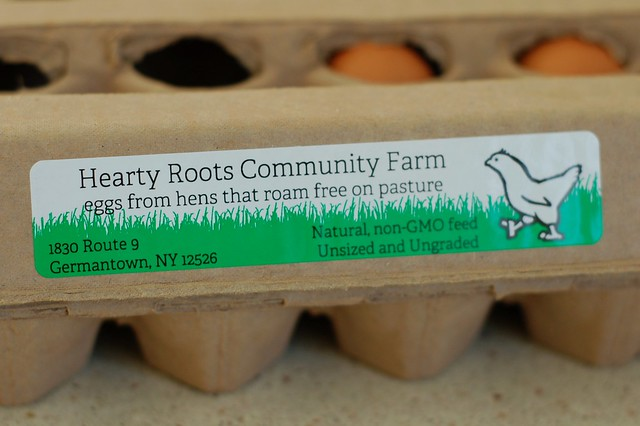 Pasture-raised eggs from Hearty Roots Community Farm by Eve Fox, The Garden of Eating, copyright 2014