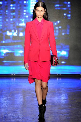 Punky Classic Hot Pink  Fashion #Trend for Fall Winter 2013 #NYFW  New York Fashion Week DKNY Fall Winter 2013 | by flashmag
