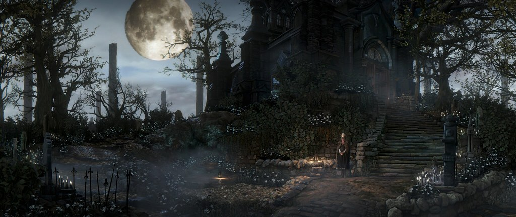 dark fantasy castle