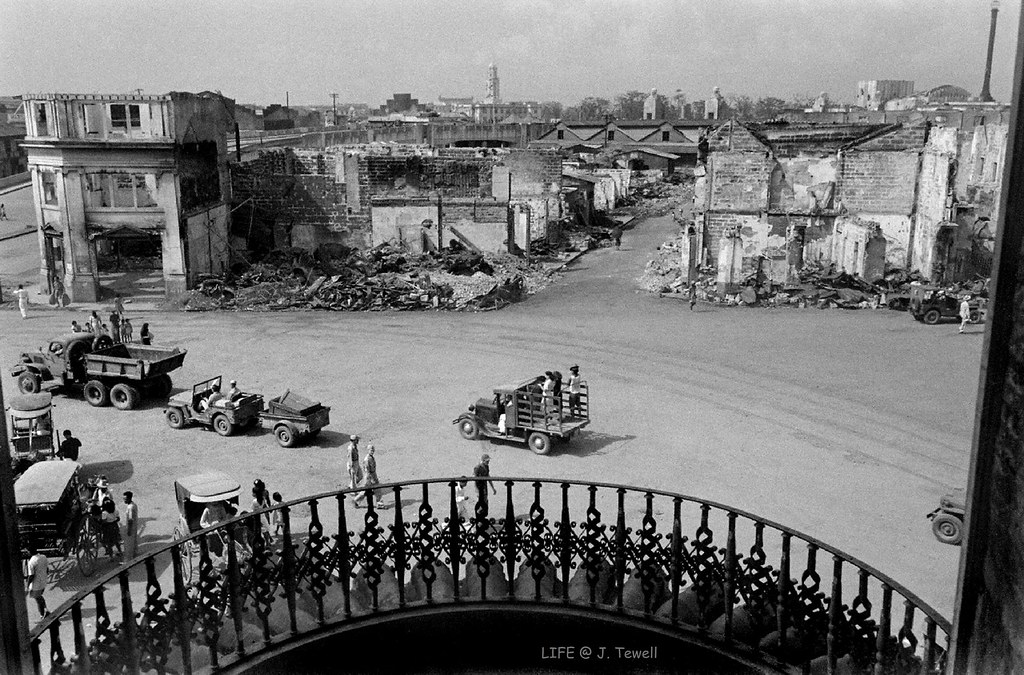 View From Quiapo Church Manila Philippines May 1945 1