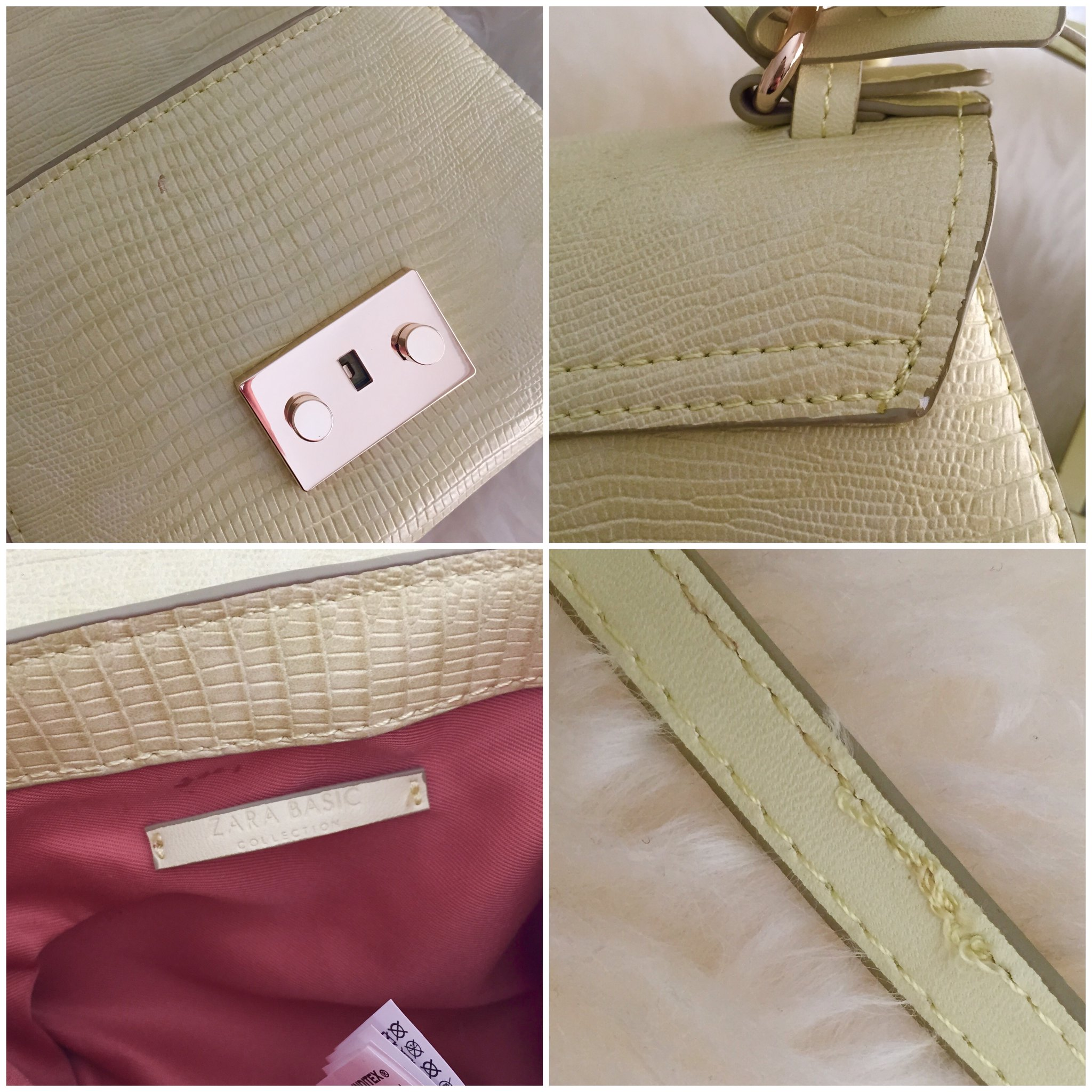 Zara Mini City Bag in Lime Green (item no. 4498/0004) - defects