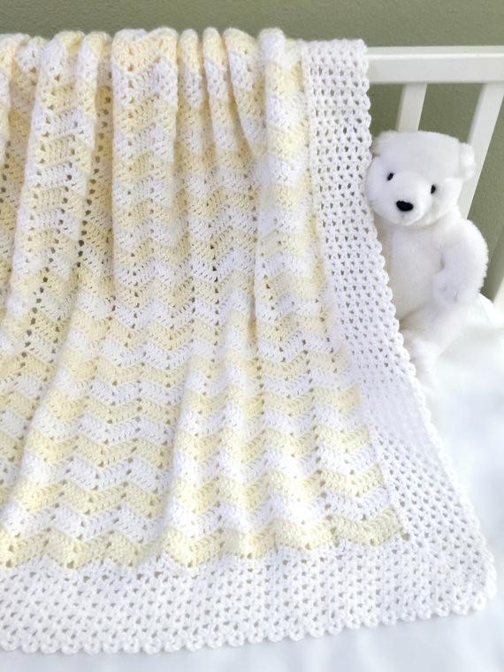Crochet Baby Blanket Pattern - Easy Ripple Baby Blanket - … | Flickr