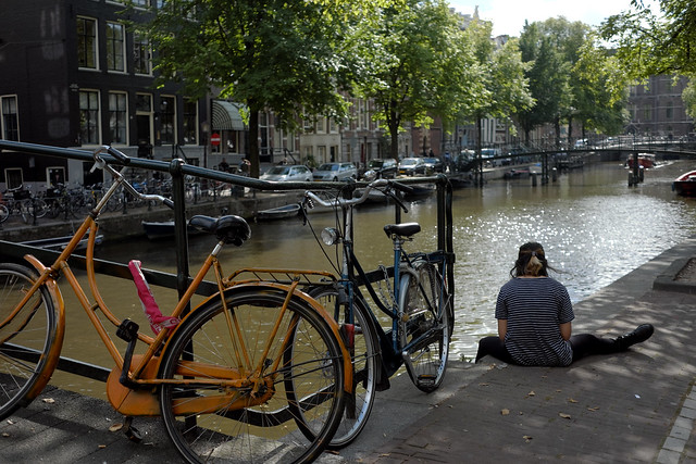 Bike at canal in Amsterdam 36