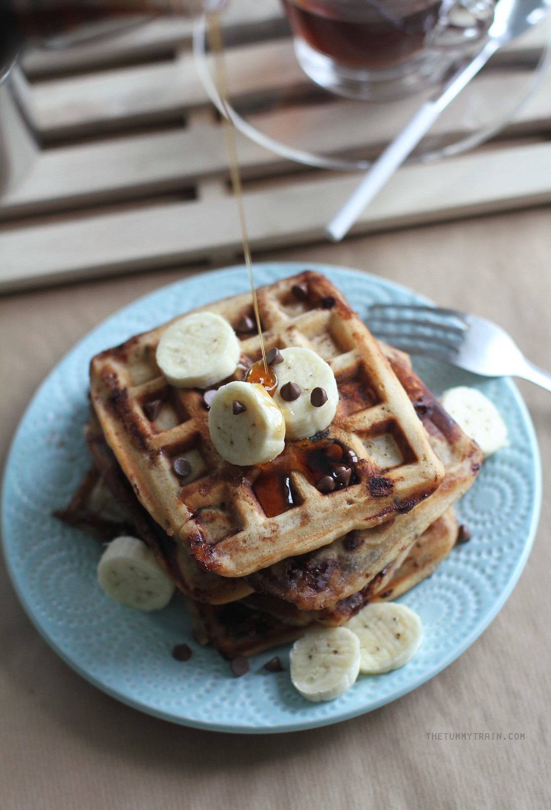 16707925337 dac402a6ab h - Peanut Butter Banana Waffles coz it's Waffle Day!