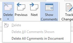 word 2013 review comments2