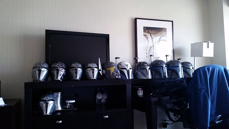 Hotel Room Helmet Lineup