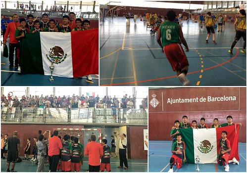 Selección indígena de baloncesto de origen triqui ganan campeonato en Barcelona