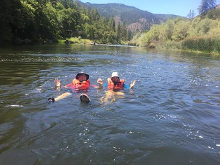 Klamath River Rafting, CA, Katy and John, August 2016