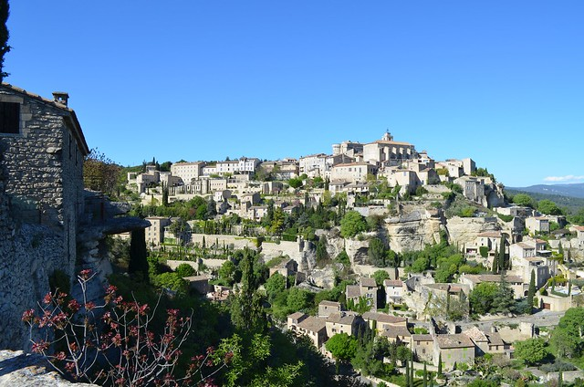 Hillside town of Gordes, France