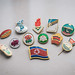 Lapel pins from North Korea