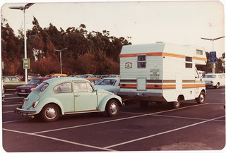 Bedford CF Camper with VW Beetle on A-Frame | by andreboeni