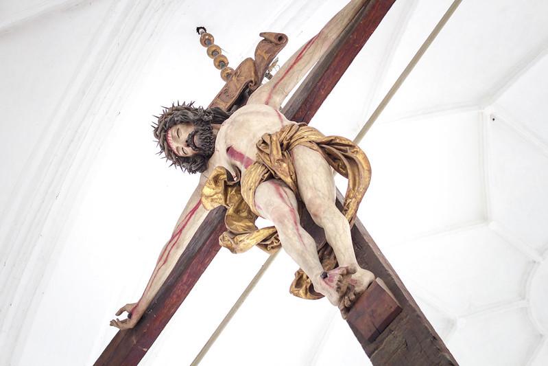 Jezus w Kościele Mariackim w Gdańsku