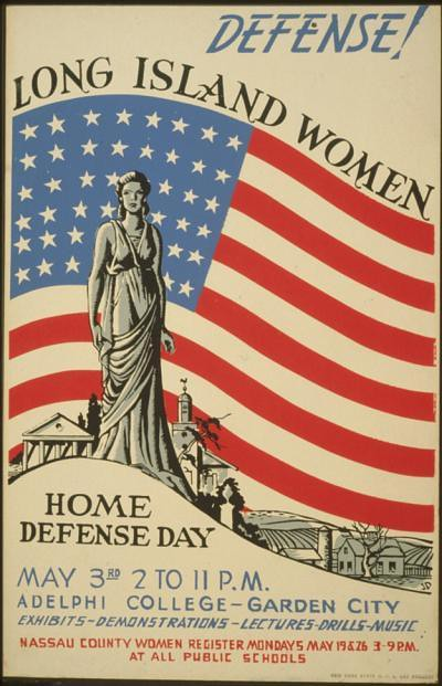 World War II Poster - Long Island Women