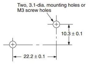 V-155-1C25 Mounting Holes
