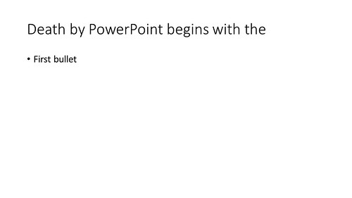 Death by PowerPoint begins with the | by Lex Photographic