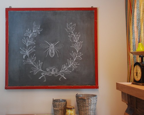 Chalkboard Design - Bee And Wreath | by A Storybook Life