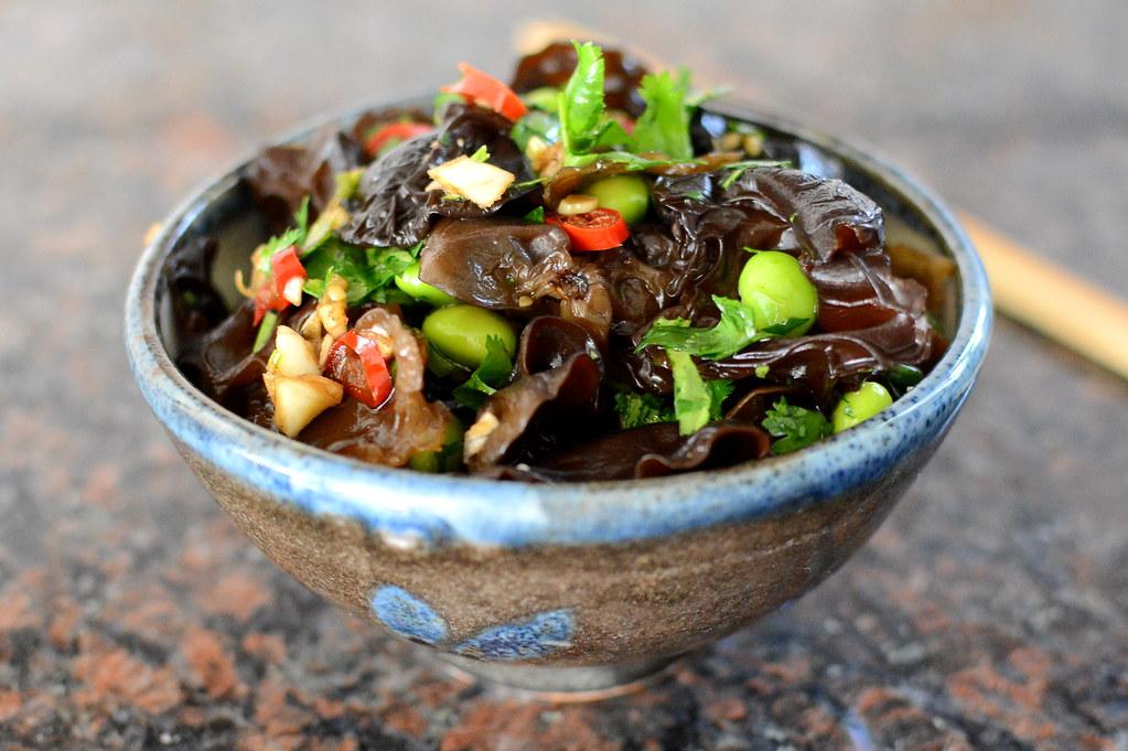 Mu Er Maodou Shala Wood Ear Mushroom Salad With Edamame