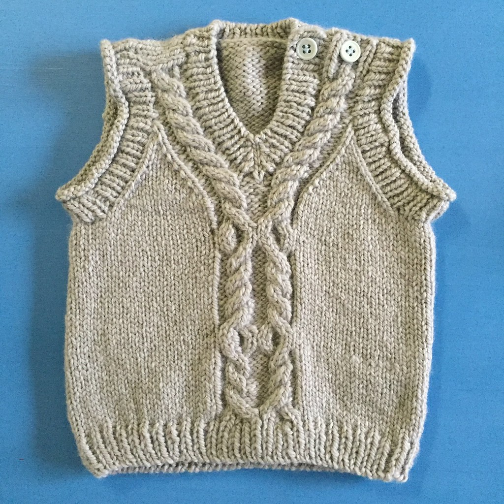 tikkiknits 'what big eyes you have' vest knitted in scout in 'winter's day'