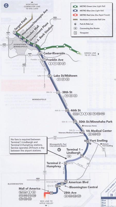 MetroTransit Blue Line 2016 Map