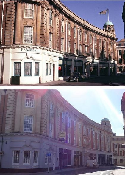 1967 And 2014 FRASERS Furniture Store, Elm Street Ipswich...... 1967 And  2014