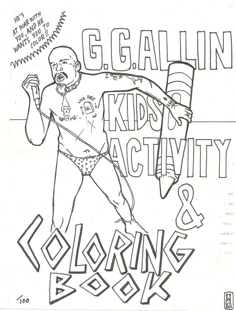 GG Allin Kids Activity And Coloring Book Cover