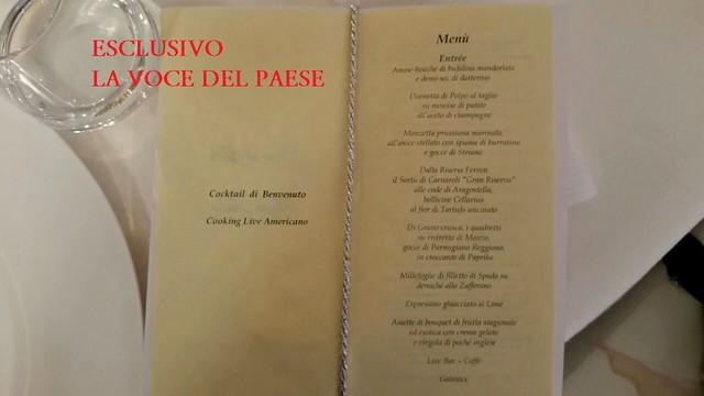 menu cena silvio berlusconi