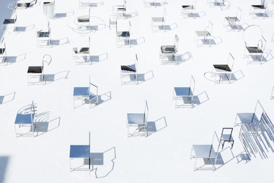 50 Manga chairs installation by Nendo