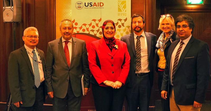 Jacinto Fabiosa, USAID; Magued Osman, Baseera; Sherine Al-Shawarby, Cairo University; Clemens Breisinger, IFPRI Egypt; Dorte Verner,