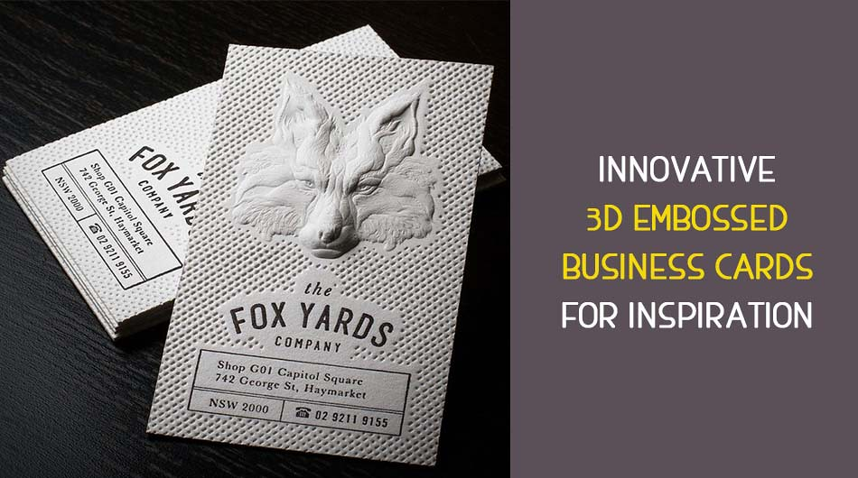 Innovative 3d embossed business cards for inspiration reheart Images