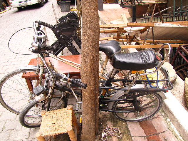 Some old bicycles